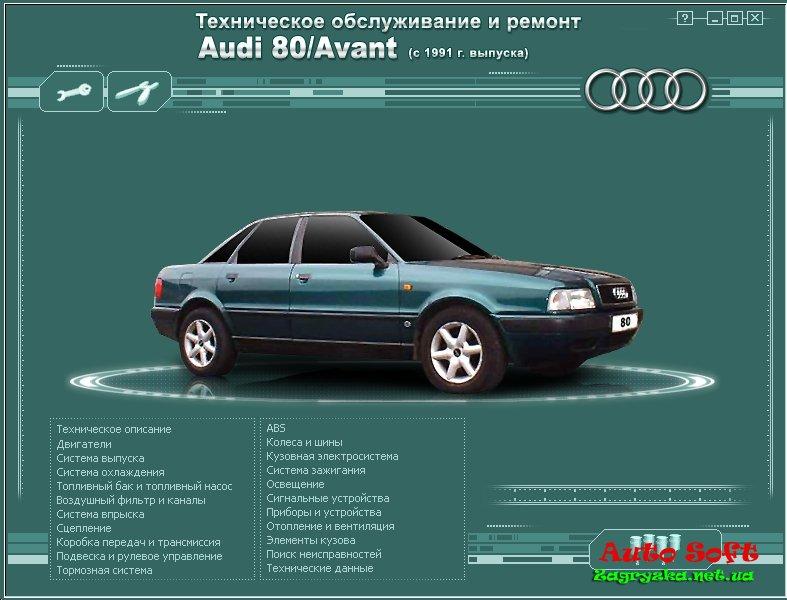 автомобиля AUDI 80 / Avant