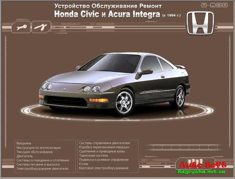 хонда интегра инструкция по эксплуатации - фото 6