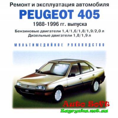 Руководство по части эксплуатации, техническому обслуживанию равным образом ремонту автомобилей Peugeot 005 0988-1996 гг. выпуска Скачать