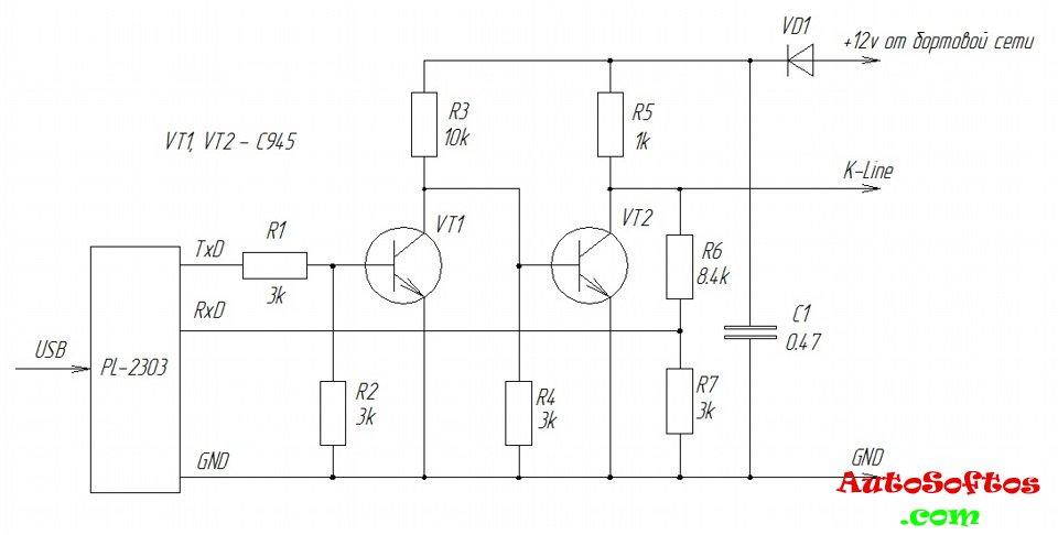 Usb к-line адаптер своими руками k-line usb схема 100