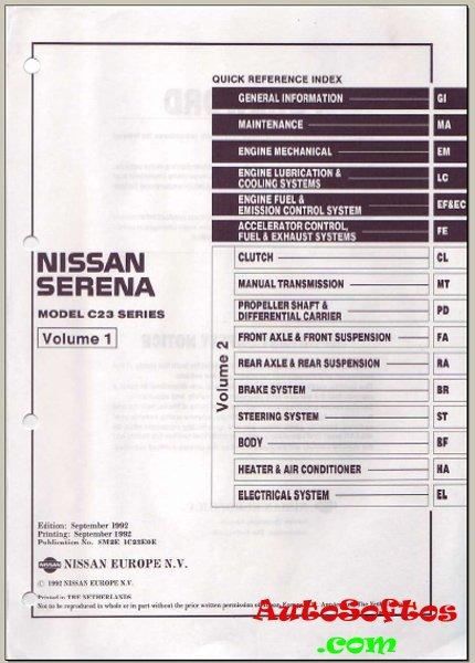 Ниссан серена с25 инструкция по эксплуатации