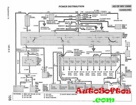 Mercedes w124 Electrical Schematic [1996, PDF] Скачать