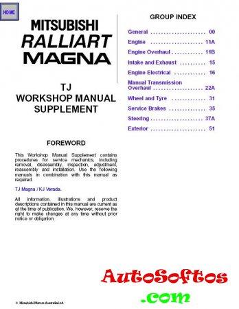 Mitsubishi Magna / Verada / Diamante Workshop Manual [2003, PDF, ENG] Скачать