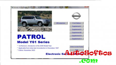 NISSAN PATROL Y61 - Electronic Service manual [from1997, PDF] Скачать