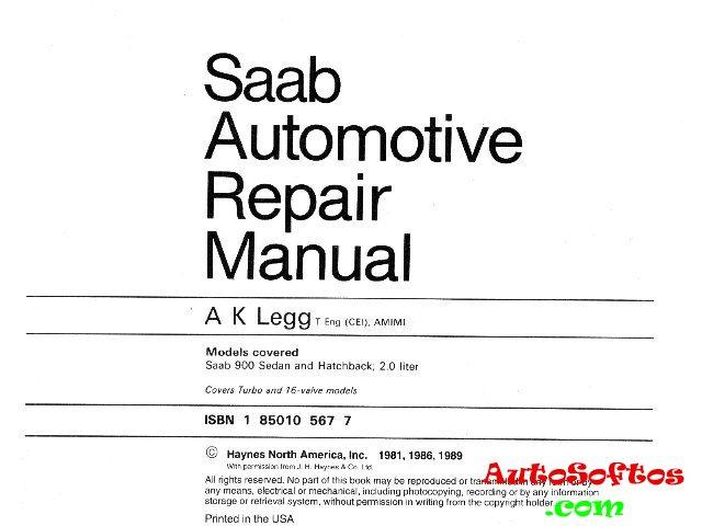 saab 95 service manual pdf