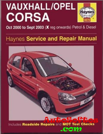 Opel Corsa C 2000 - 2003 Service And Repair Manual Скачать