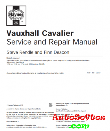 Vauxhaul Cavalier (Opel Vectra A) Service and Repair Manual Скачать