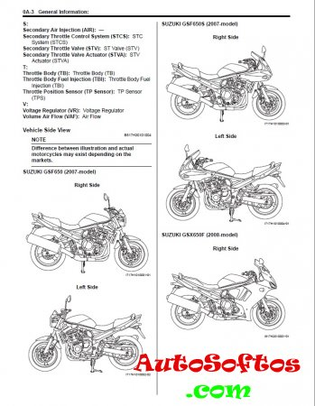 GSF650/S/GSX650F 2007 ABS: Service repair manual Скачать