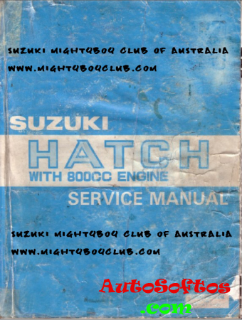 Suzuki Hatch / Alto F8B Service Manual Скачать