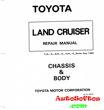 Toyota Land Cruiser: Chassis & Body repair manual Скачать
